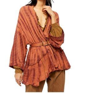 Free people pinkish kimono top